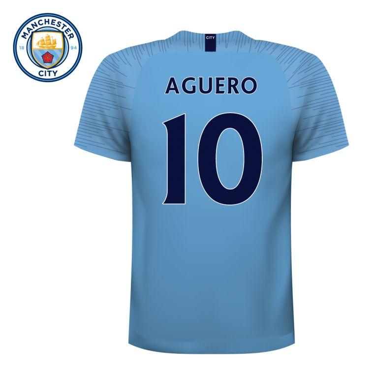eff049fa3 Manchester City Football Club - Personalised Football Shirt Wall Sticker + Man  City Crest Set