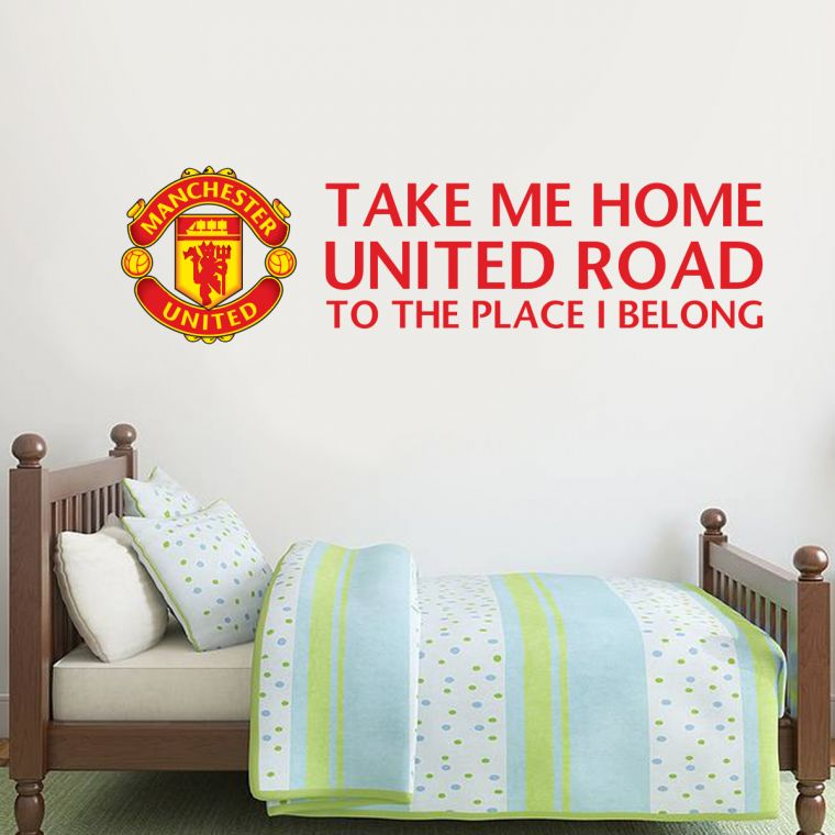 the official home of football wall stickers - manchester united