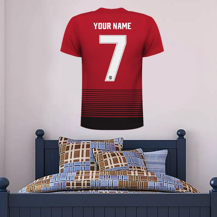 newest 755c8 2f814 Manchester United F.C. - Personalised Shirt Wall Sticker