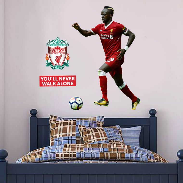 The Official Home of Football Wall Stickers - Liverpool Football Club Sadio  Mane Wall Sticker - The Beautiful Game e6e40b22d