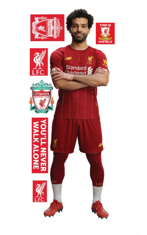 new styles eaae2 8d5b1 Liverpool FC - Mo Salah Player Decal + LFC Wall Sticker Set