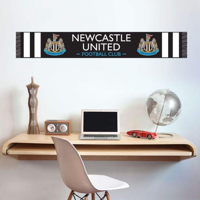 Newcastle united football club bar scarf decal wall sticker vinyl