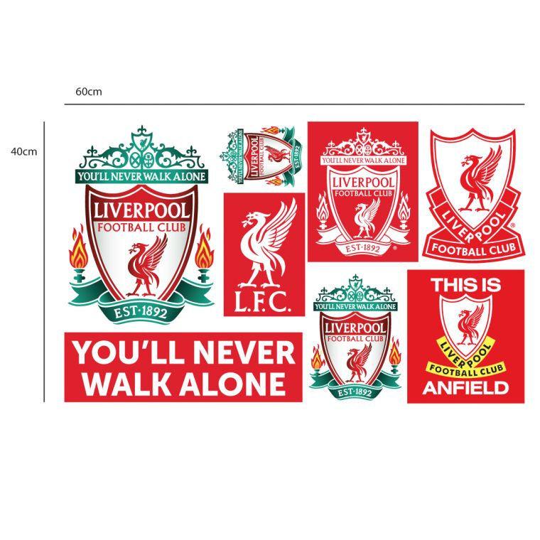 Liverpool football club personalised name crest wall decal lfc wall sticker set