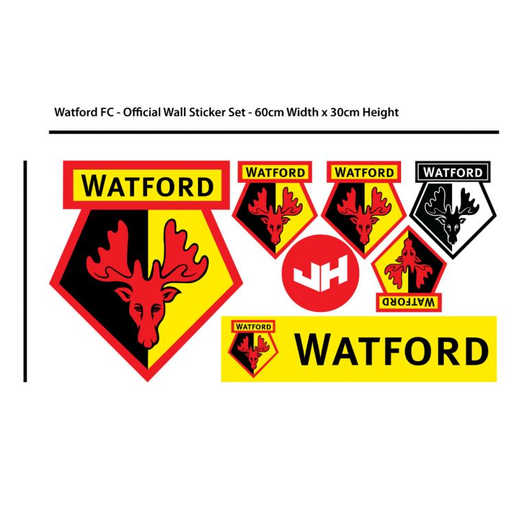 The Official Home of Football Wall Stickers - Watford FC Crest Wall ... 689c0bb6a