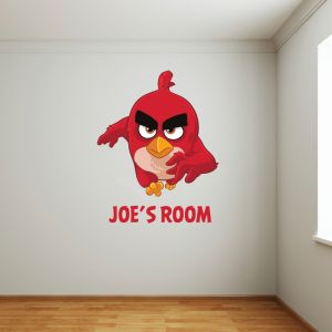 Angry Birds Red Personalised Name Wall Sticker