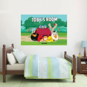 Angry Birds Group Personalised Name Wall Sticker