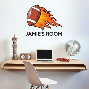 American Football & Name Wall Sticker