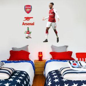 Arsenal FC - Pierre-Emerick Aubameyang Player Decal + Gunners Wall Sticker Set