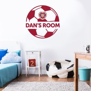 Hearts Football Club - Personalised Ball & Crest + Wall Sticker Set