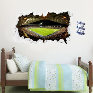 Birmingham City Football Club Smashed Wall Stadium Mural Wall Sticker