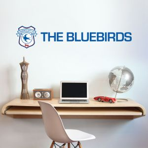 Cardiff City Football Club Crest & Blue Birds Wall Sticker