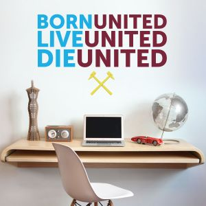 West Ham United Football Club 'Ball, Live, Die' Wall Decal Mural & Wall Sticker Set Vinyl