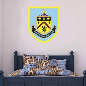 Burnley Football Club Crest Wall Sticker Art + Burnley FC Badge Wall Decal Set