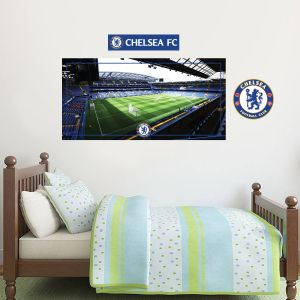 Chelsea Football Club - Stamford Bridge Stadium Wall Mural + Blues Wall Sticker Set