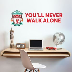 Liverpool Football Club - Crest 'You'll Never Walk Alone' Quote Decal + LFC Wall Sticker Set