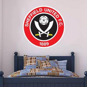 Sheffield United Crest Wall Sticker + Official Wall Sticker Badge Set