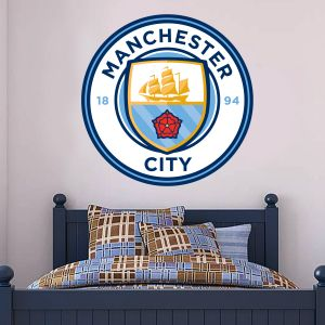 Manchester City Football Club Crest & Man City Wall Sticker Set