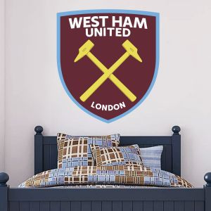 West Ham United Football Club Crest & Wall Sticker Set Vinyl