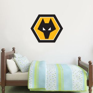 Wolverhampton Wanderers F.C. Crest Wall Sticker & Wolves Decal Set