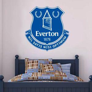 Everton F.C. Crest Wall Sticker & Badge Decal Set