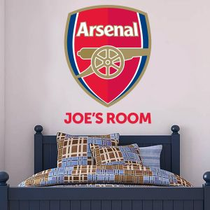 Arsenal Football Club Personalised Name & Crest Wall Sticker Vinyl
