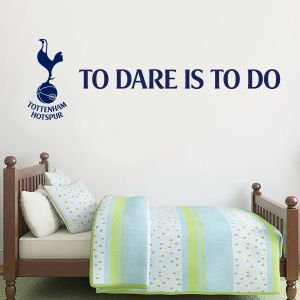 Tottenham Hotspur Football Club 'To Dare Is To Do' & Spurs Crest Wall Sticker
