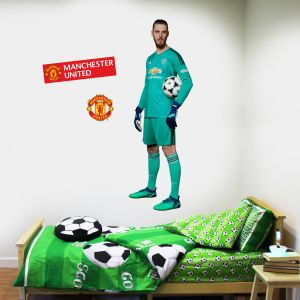 Manchester United F.C. - David De Gea Player Decal + Bonus Wall Sticker Set