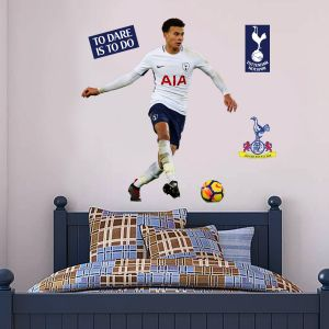 Tottenham Hotspur FC - Dele Alli Passing Wall Mural + Spurs Wall Sticker Set