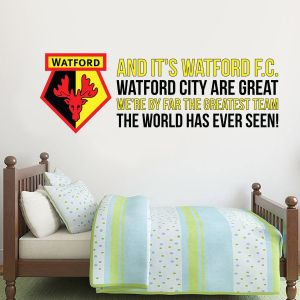Watford FC - 'Greatest Team' Song Wall Sticker