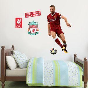 Liverpool FC - Jordan Henderson Player Decal + LFC Wall Sticker Set