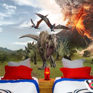 Jurassic World Volcano Dinosaur Full Wall Mural
