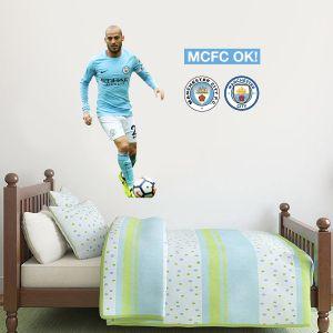 Manchester City FC - David Silva Player Decal + Wall Sticker Set