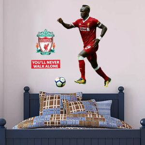 Liverpool FC - Sadio Mane Player Decal + LFC Wall Sticker Set