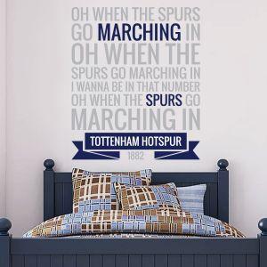 Tottenham Hotspur Football Club 'Marching In' Song Wall Sticker Vinyl