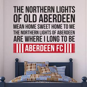 Aberdeen Football Club Official Northern Lights Song Wall Sticker
