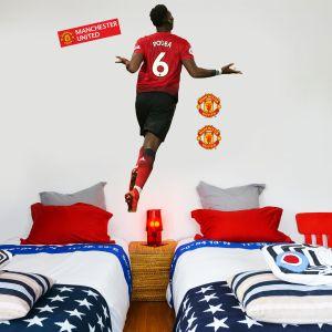 Manchester United F.C. - Paul Pogba Celebration Player Decal + Bonus Wall Sticker Set
