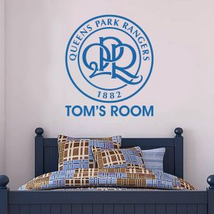 Queens Park Rangers F.C. - Club Badge & Personalised Name + Hoops Wall Sticker Set