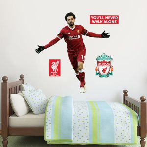 Liverpool FC - Mo Salah Goal Celebration Player Decal + LFC Wall Sticker Set