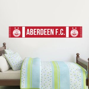 Aberdeen Football Club Official Bar Scarf Wall Sticker