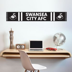 Swansea City Football Club - Swans Scarf Wall Sticker