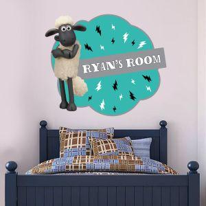 Shaun The Sheep - Personalised Wall Sticker