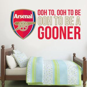 Arsenal Football Club Crest & Gooners Song Wall Sticker Vinyl