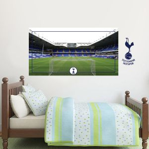 Tottenham Hotspur Football Club - Stadium Behind The Net Mural + Spurs Wall Sticker Set