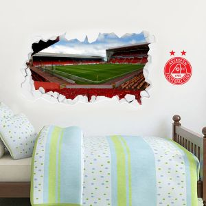 Aberdeen Football Club Stadium Smashed Wall Sticker Mural