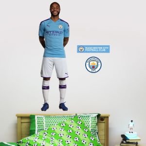 Manchester City FC - Raheem Sterling 2019 Player Decal + Wall Sticker Set