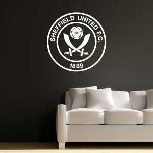 Sheffield United F.C. - Crest 'One Colour' + Blades Wall Sticker Set