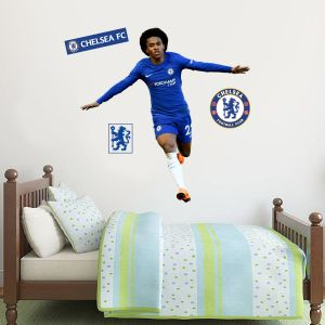 Chelsea FC - Willian Celebration Player Decal + CFC Wall Sticker Set