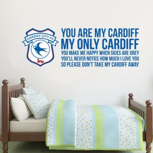 Cardiff City Football Club 'You Are My Cardiff' Song Wall Sticker