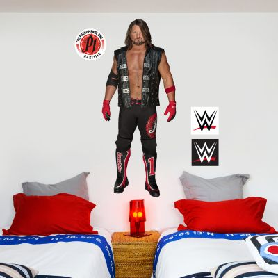 WWE - AJ Styles Wrestler Decal + Bonus Wall Sticker Set