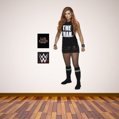 WWE - Becky Lynch Wrestler Decal + Bonus Wall Sticker Set